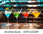 multicolored cocktails at the... | Shutterstock . vector #439110289
