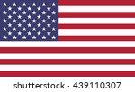 vector flag of usa | Shutterstock .eps vector #439110307