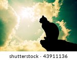 Cat And Deep Sky. Element Of...