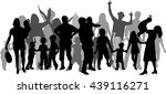 group of people. crowd of... | Shutterstock .eps vector #439116271