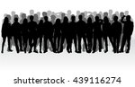 group of people. crowd of... | Shutterstock .eps vector #439116274