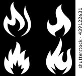 fire icons | Shutterstock .eps vector #439122631