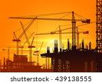 sunrise building under... | Shutterstock .eps vector #439138555