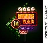 beer bar neon sign | Shutterstock .eps vector #439139491