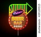 beer bar neon sign | Shutterstock .eps vector #439139515