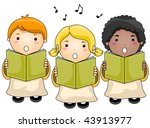 Children Choir - Vector - stock vector