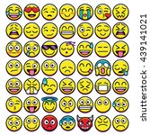 vector set of different emojis... | Shutterstock .eps vector #439141021