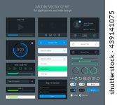 user interface kit  ui elements ... | Shutterstock .eps vector #439141075