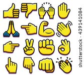 vector set of different hand... | Shutterstock .eps vector #439141084