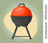 vector black bbq grill icon.... | Shutterstock .eps vector #439141261