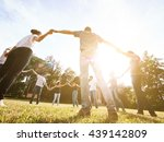 large group of friends together ... | Shutterstock . vector #439142809