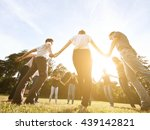 large group of friends together ... | Shutterstock . vector #439142821