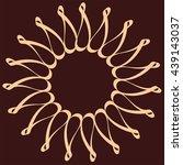 simple mandala vector | Shutterstock .eps vector #439143037