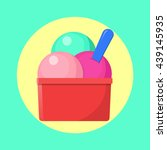 ice cream in a plastic cup icon ... | Shutterstock .eps vector #439145935