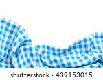 Blue Tablecloth On White...