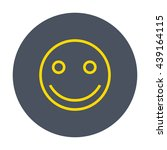 gold line social smile icon in... | Shutterstock .eps vector #439164115