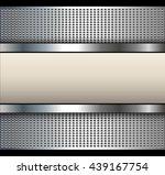 background with beige banner...   Shutterstock .eps vector #439167754