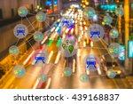 smart transportation concept.... | Shutterstock . vector #439168837