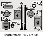 restaurant shop signs signpost... | Shutterstock .eps vector #439175731
