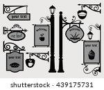 Restaurant Shop Signs Signpost...