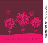 valentine's day card with... | Shutterstock .eps vector #43917901