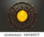 golden astrological symbol in... | Shutterstock . vector #439184977