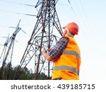 electrical engineer working.... | Shutterstock . vector #439185715