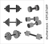 vector set of dumbbells. | Shutterstock .eps vector #439187689
