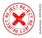 grunge round reject stamp | Shutterstock .eps vector #439196221