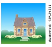 the old english stone house.... | Shutterstock .eps vector #439196581