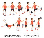 soccer sport athletes  football ... | Shutterstock .eps vector #439196911