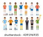 soccer sport athletes  football ... | Shutterstock .eps vector #439196935