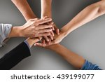 team work business team showing ... | Shutterstock . vector #439199077