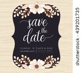 save the date  wedding... | Shutterstock .eps vector #439201735