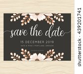 save the date  wedding... | Shutterstock .eps vector #439201741