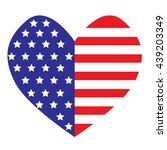 the vector heart with american... | Shutterstock .eps vector #439203349