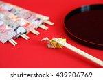 disposable chopsticks for... | Shutterstock . vector #439206769
