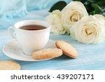 Tea In Elegant Porcelain Cup ...