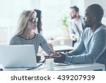 discussing some business issues.... | Shutterstock . vector #439207939