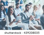 people on conference. group of... | Shutterstock . vector #439208035