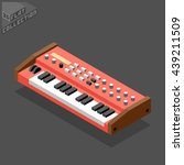 vintage synthesizer. musical...   Shutterstock .eps vector #439211509
