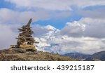 mountain view from annapurna... | Shutterstock . vector #439215187