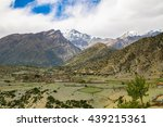 mountain view from annapurna... | Shutterstock . vector #439215361