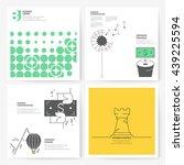 business brochure flyer design... | Shutterstock .eps vector #439225594