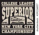 new york football  vintage ... | Shutterstock .eps vector #439226857