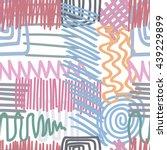 striped geometric seamless... | Shutterstock .eps vector #439229899