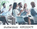 applauding their achievements.... | Shutterstock . vector #439232479