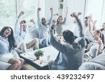 celebrating success. group of... | Shutterstock . vector #439232497