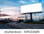 blank billboard at dusk for... | Shutterstock . vector #439233685