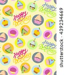 happy birthday background.... | Shutterstock .eps vector #439234669
